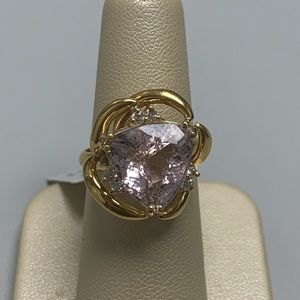 Jewelry - 18K Yellow Gold Fancy Kunzite and Diamond Ring